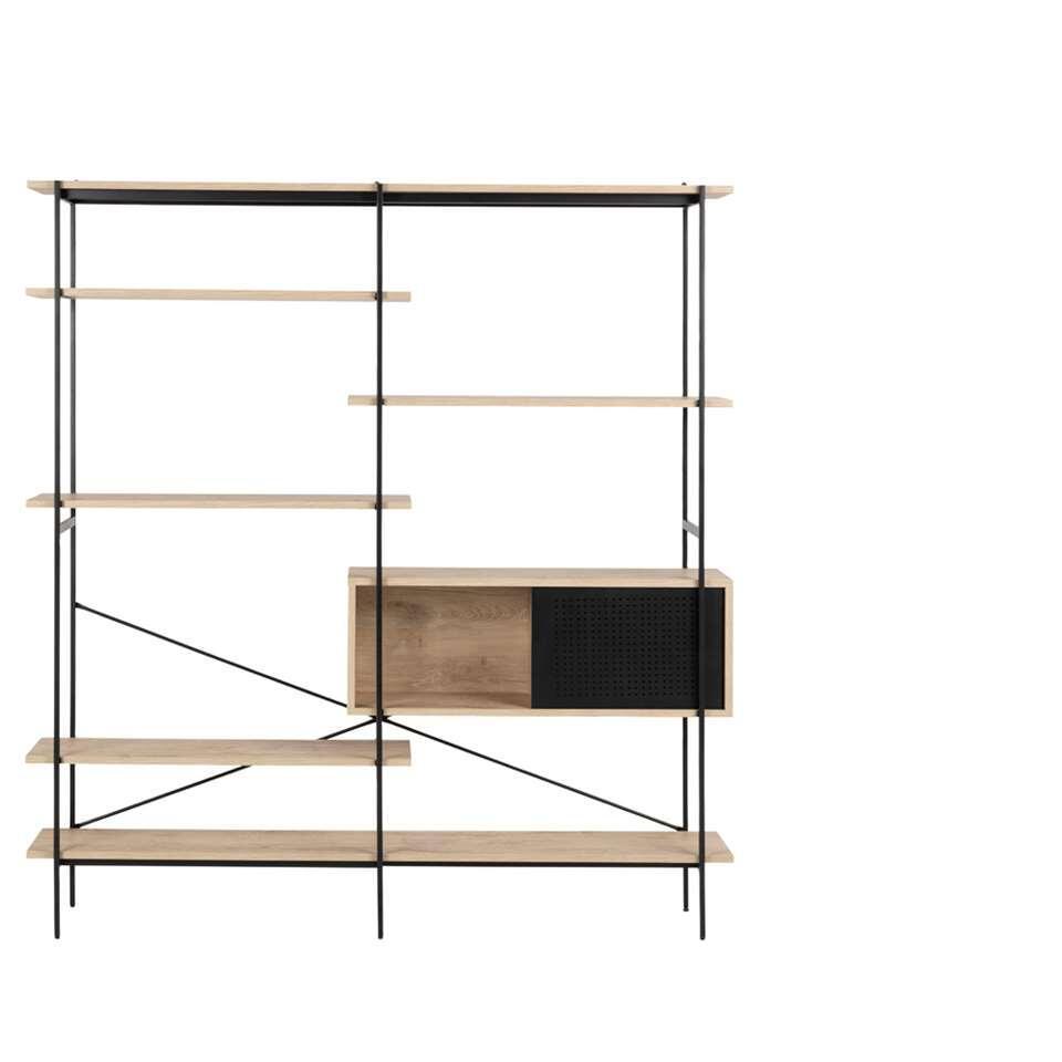 Boekenkast Vales - eiken/white wash - 188x172x27 cm