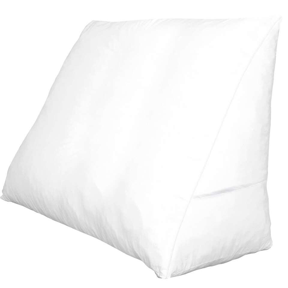 Polydaun sloop voor bedzitkussen - wit - 65x30 cm