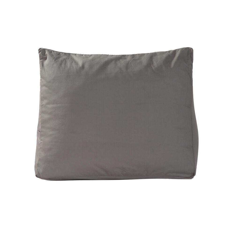 Polydaun sloop voor bedzitkussen - antraciet - 65x30 cm