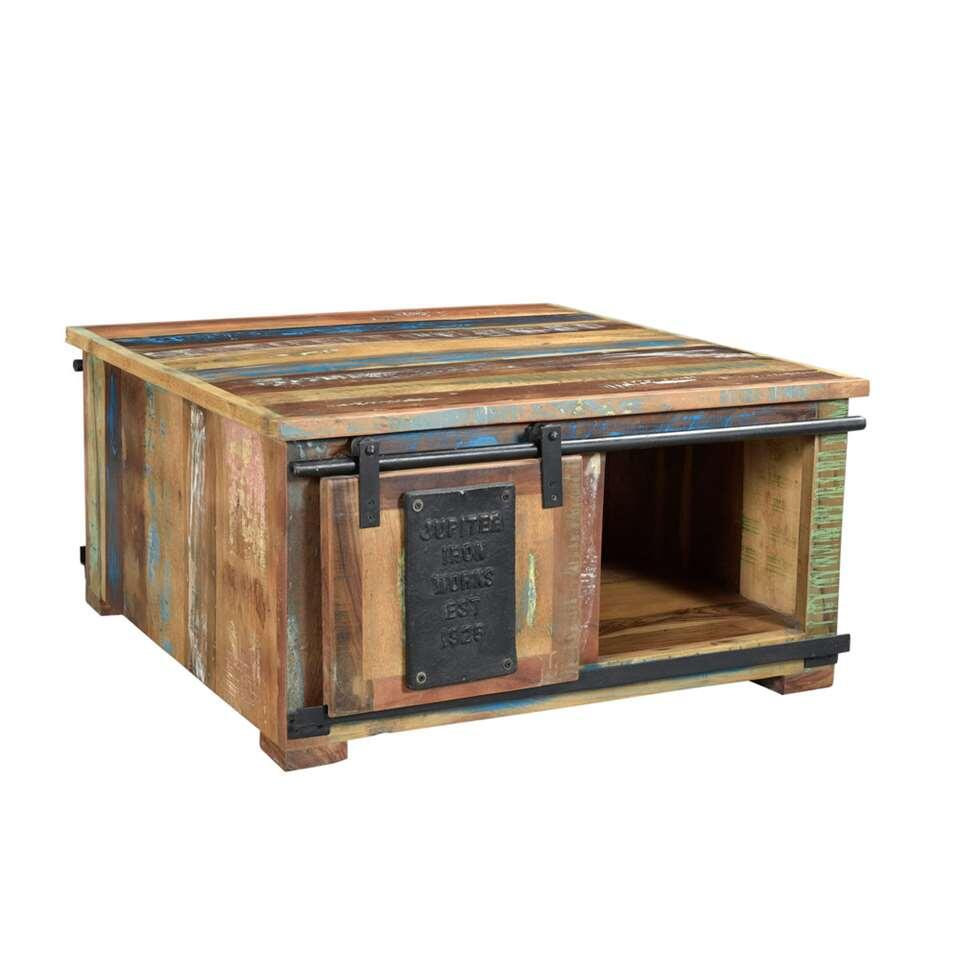 Salontafel Aidone - naturel - 40x80x80 cm - Leen Bakker