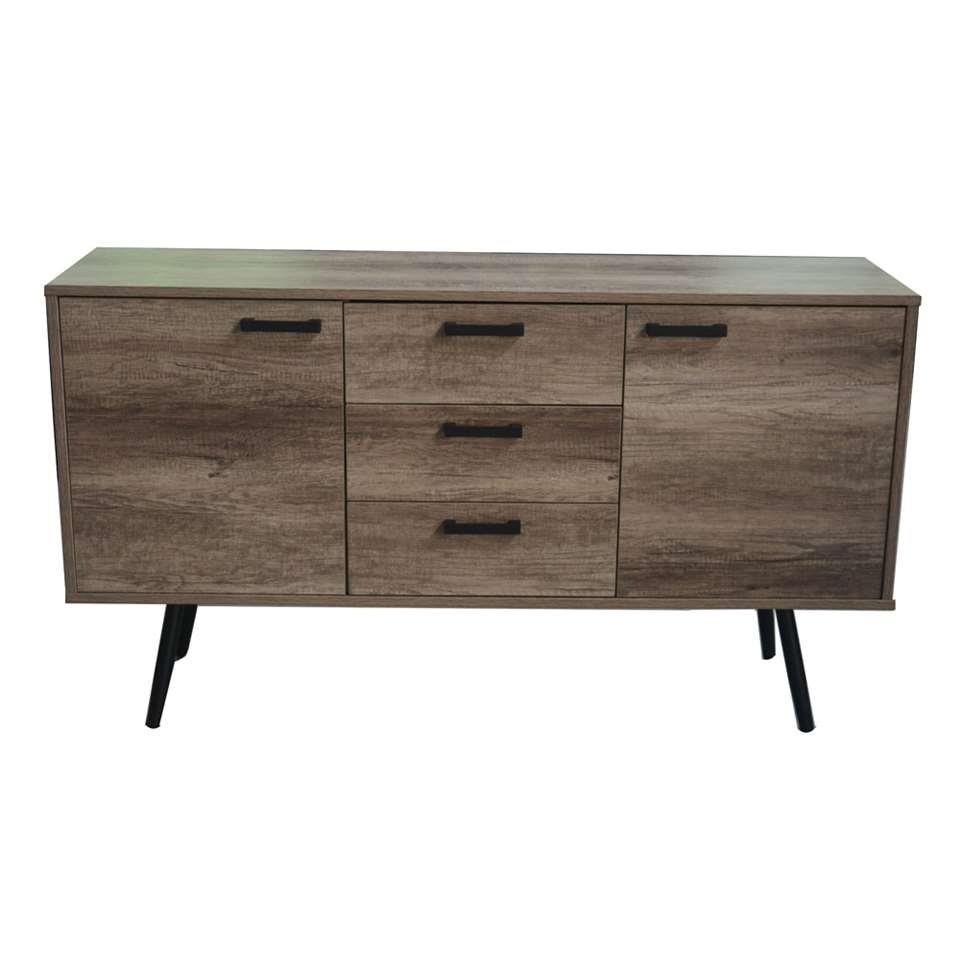 TV-dressoir Sisco - bruin/zwart - 84x150x39,5 cm