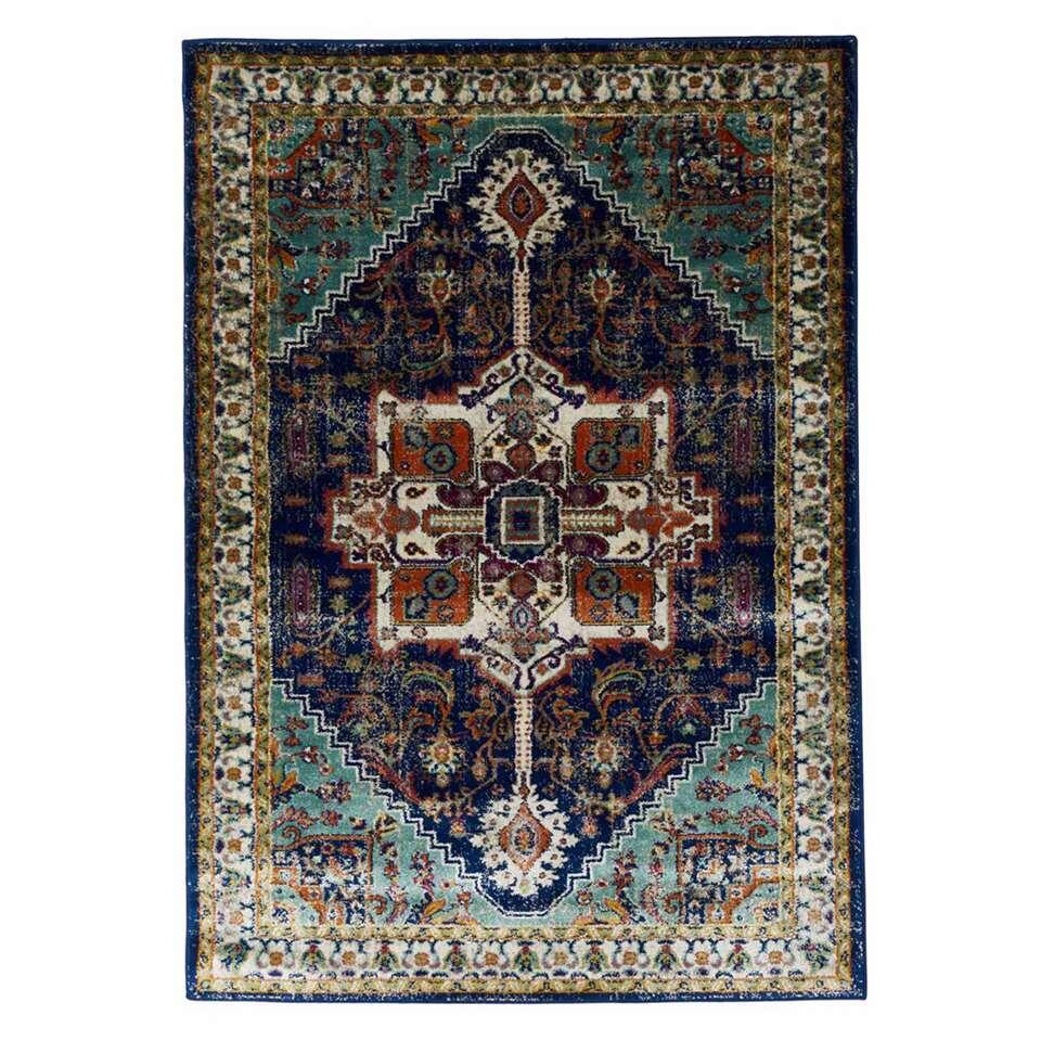 Floorita vloerkleed Ashley - blauw - 140x200 cm