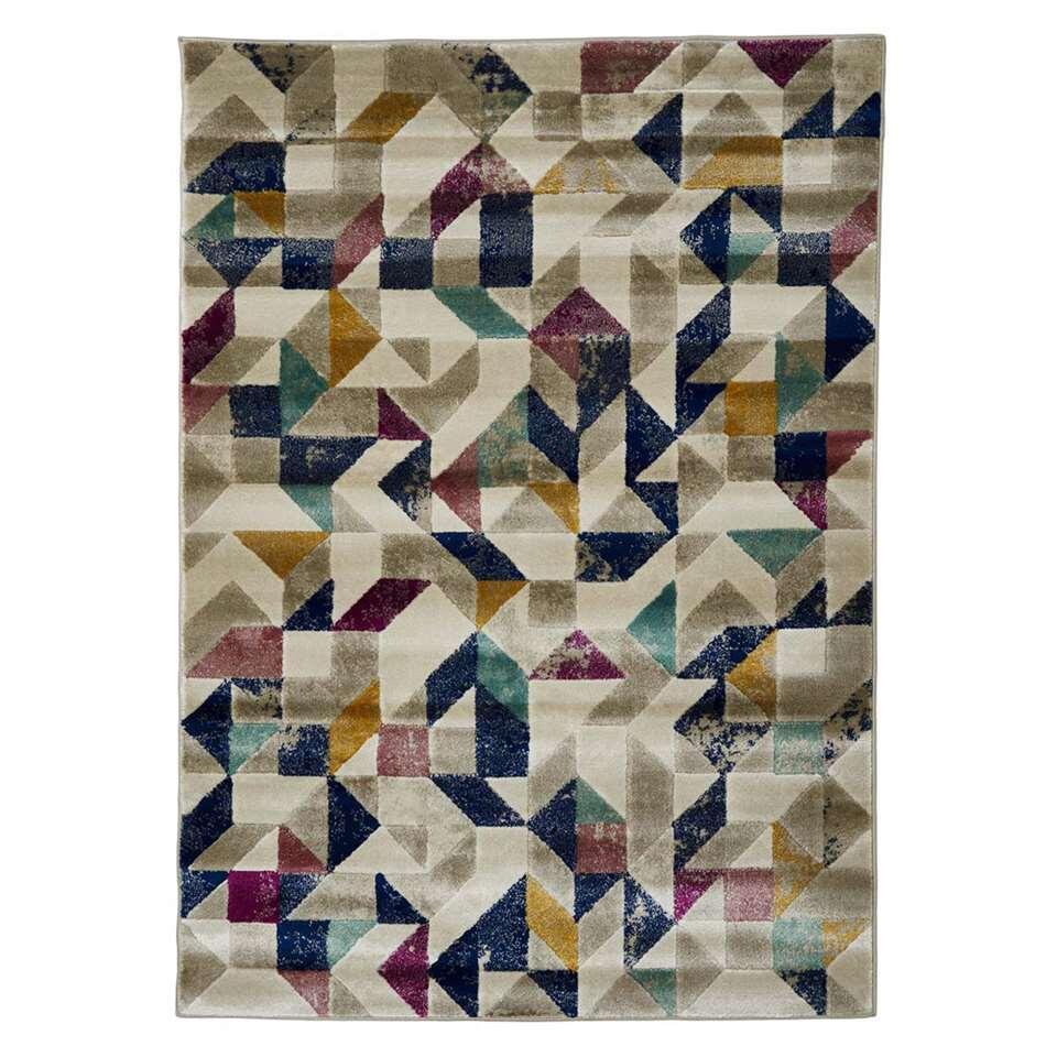 Floorita vloerkleed Hippy - multikleur - 140x200 cm - Leen Bakker
