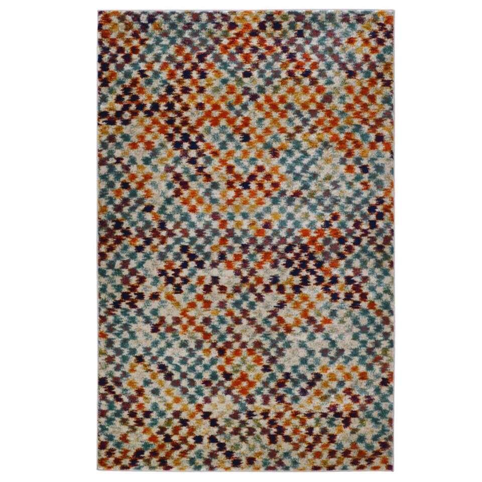Floorita vloerkleed Mesh - multikleur - 140x200 cm - Leen Bakker