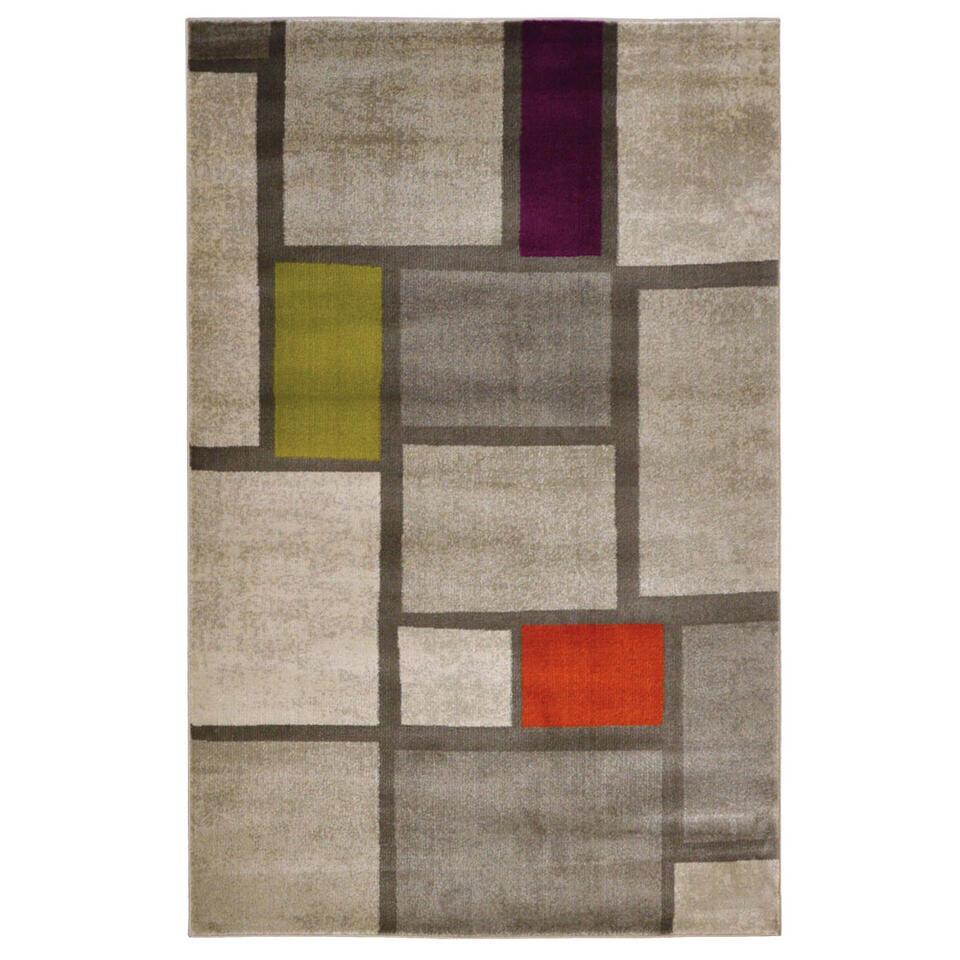 Floorita vloerkleed Mondrian - multikleur - 140x200 cm - Leen Bakker