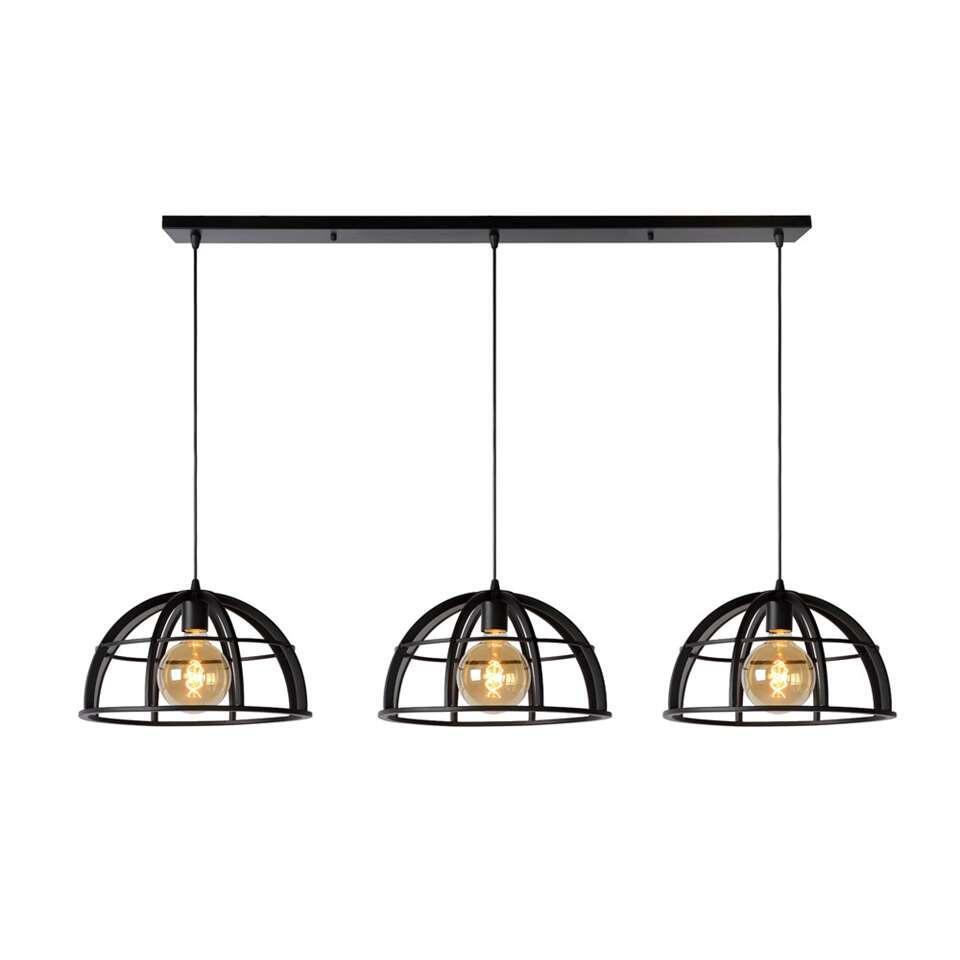 Lucide hanglamp Dikra 3 lamp - zwart - 40 cm