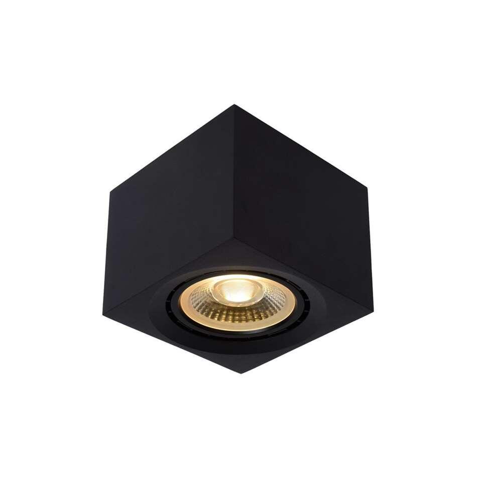 Lucide plafondspot Fedler - zwart - 12x12 cm - Leen Bakker