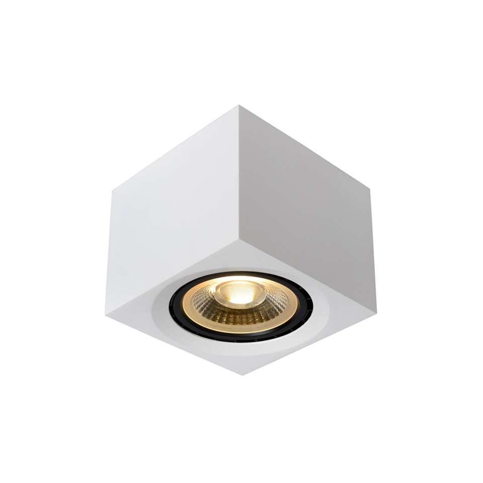 Lucide plafondspot Fedler - wit - 12x12 cm - Leen Bakker