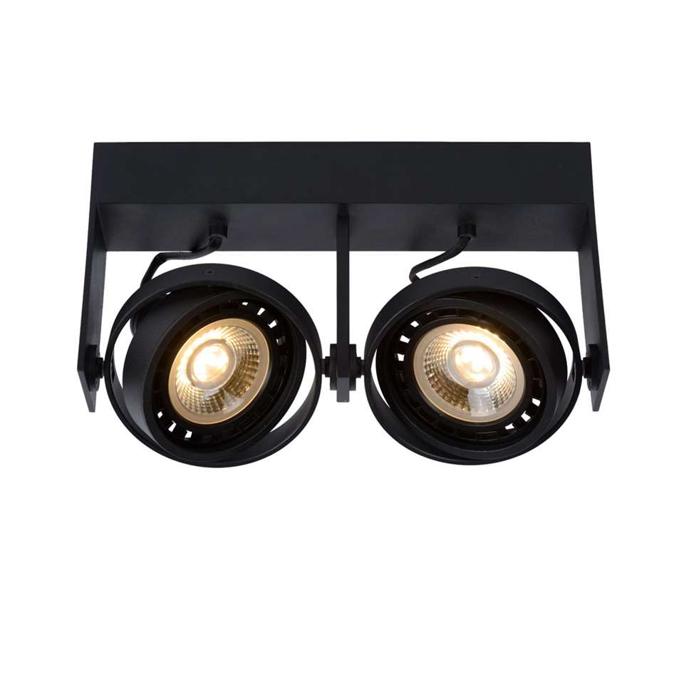 Lucide plafondspot Griffon 2 lamp - zwart