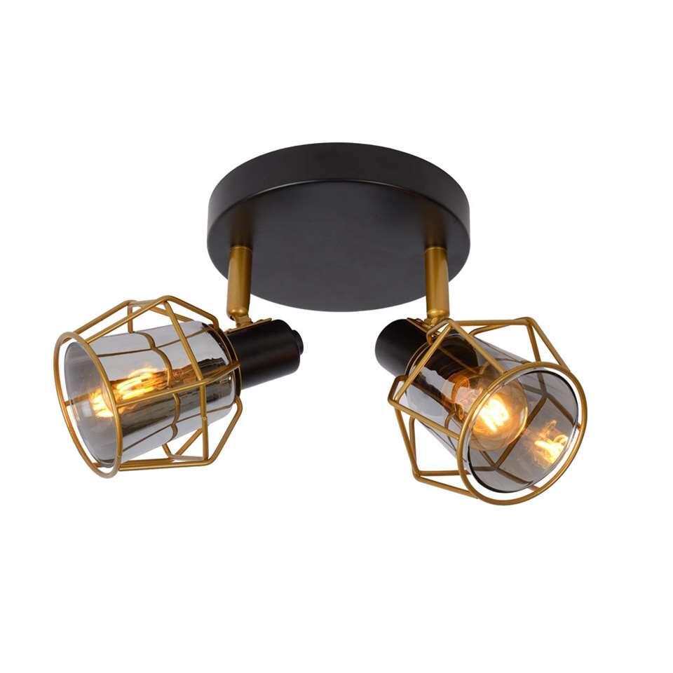 Lucide plafondspot Nila 2 lamp - zwart