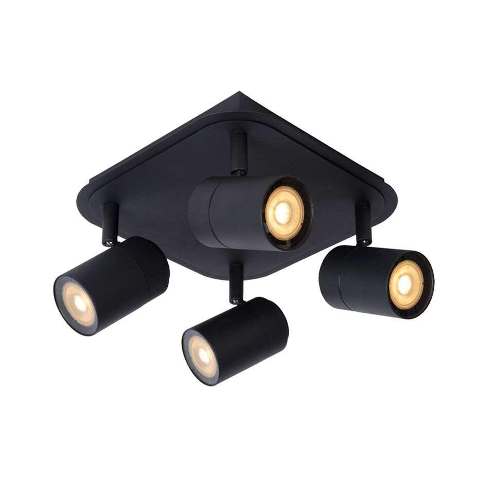 Lucide wandspot Lennert 4 lamp - zwart