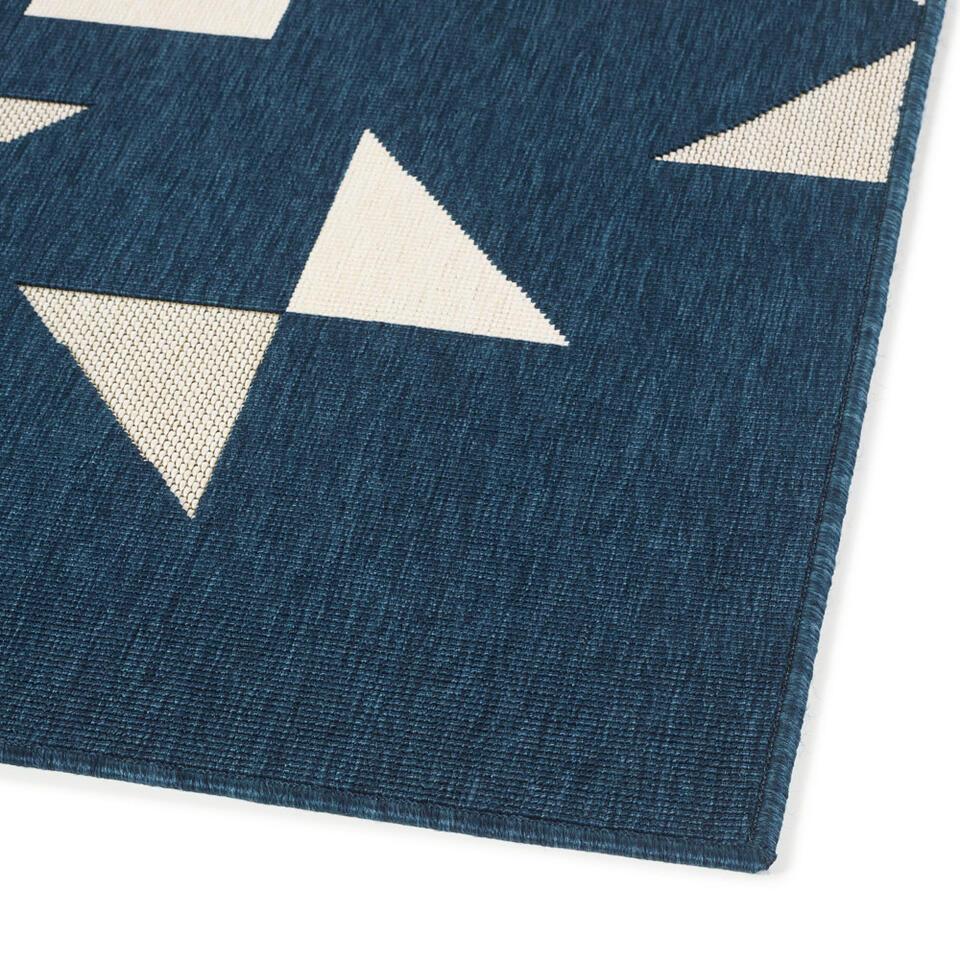 Vloerkleed Lecci - crème/blauw - 160x230 cm