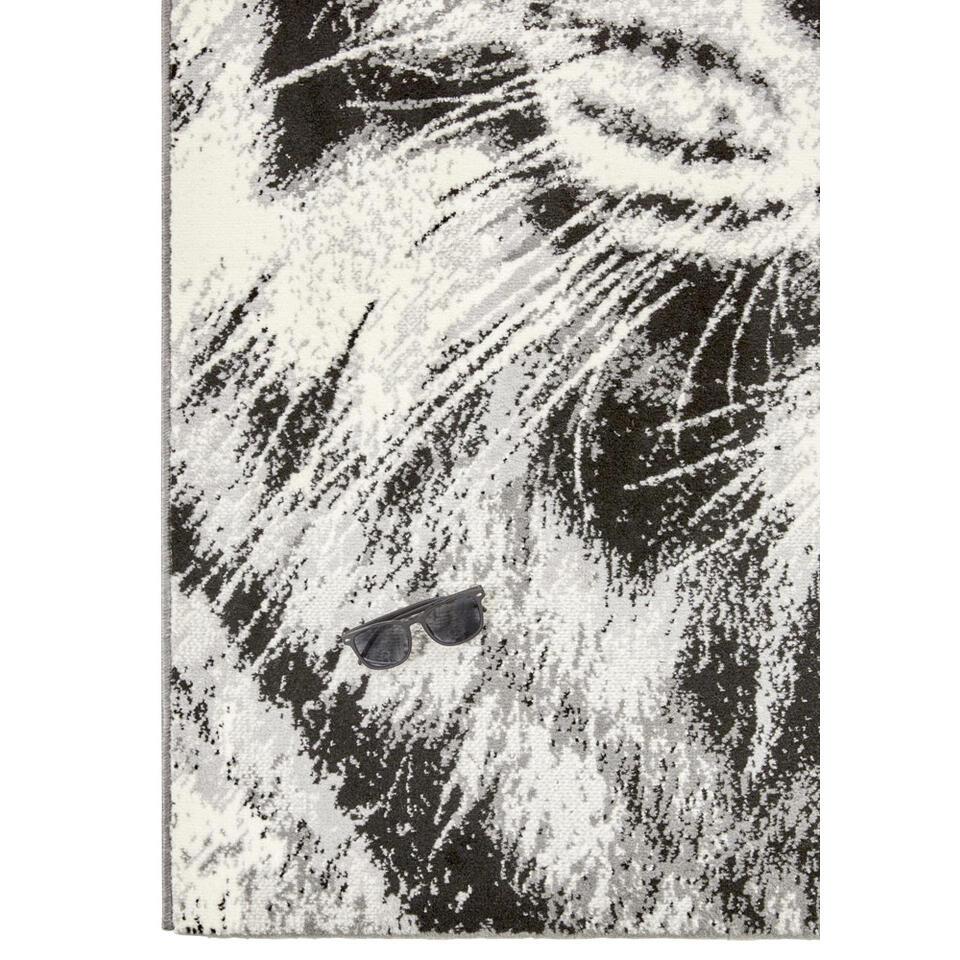 Vloerkleed Tijger - grijs - 120x170 cm