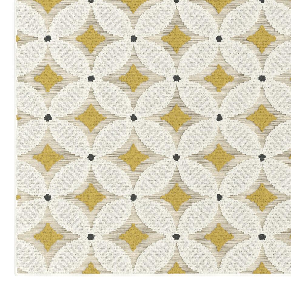 Vloerkleed Vezzani - geel/grijs - 160x230 cm