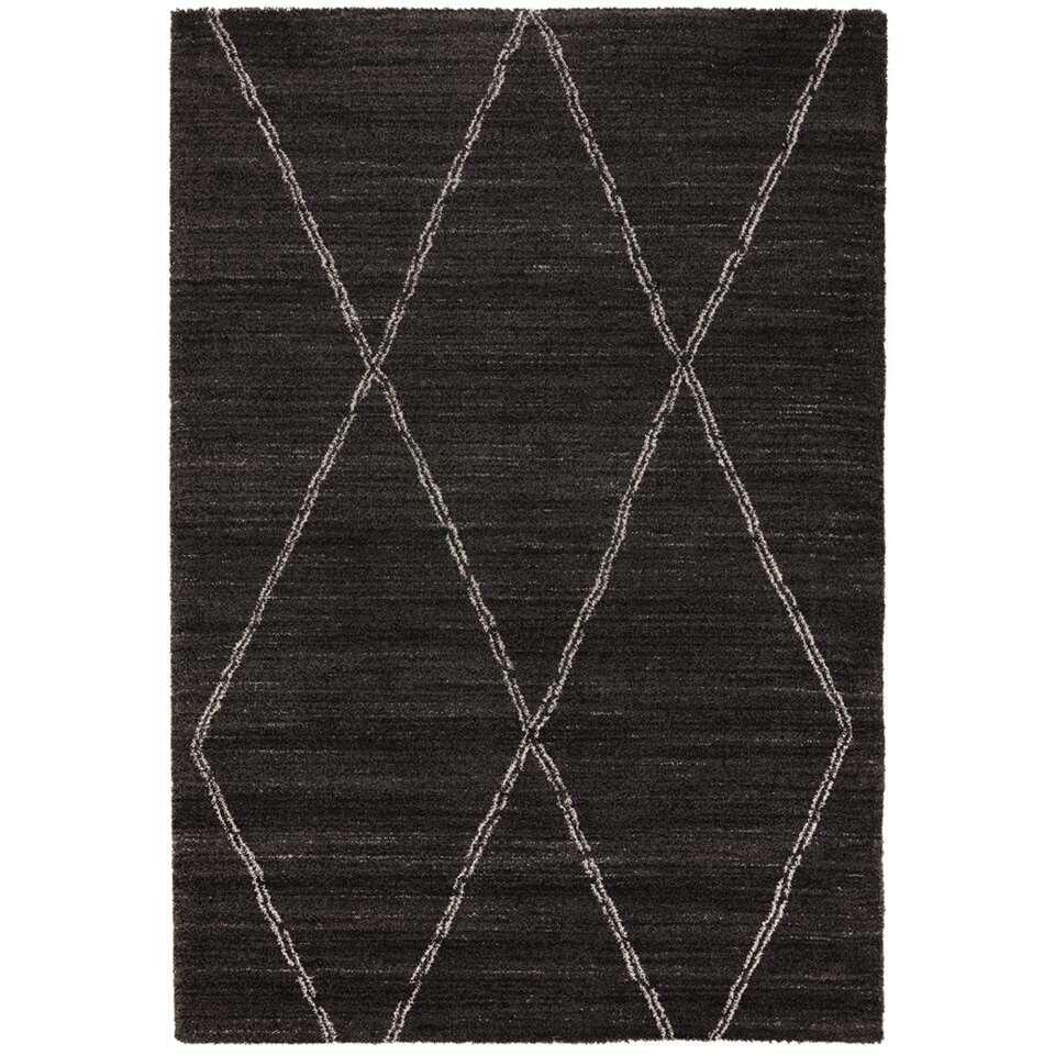 Vloerkleed Noma - zwart - 200x290 cm