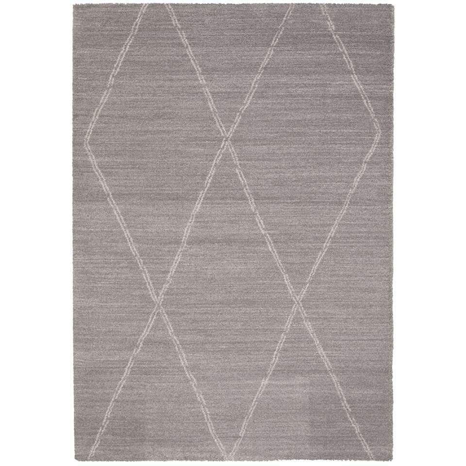 Vloerkleed Noma - grijs - 200x290 cm