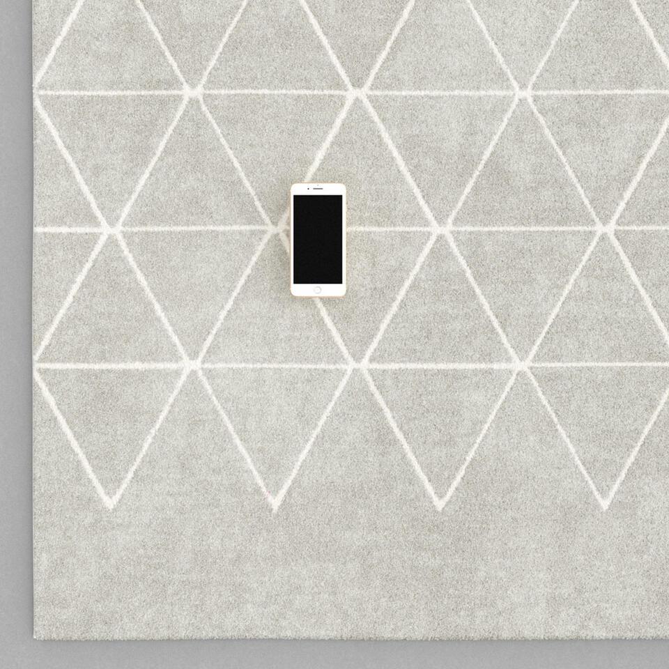 Vloerkleed Rivoli – lichtgrijs – 160×230 cm – Leen Bakker