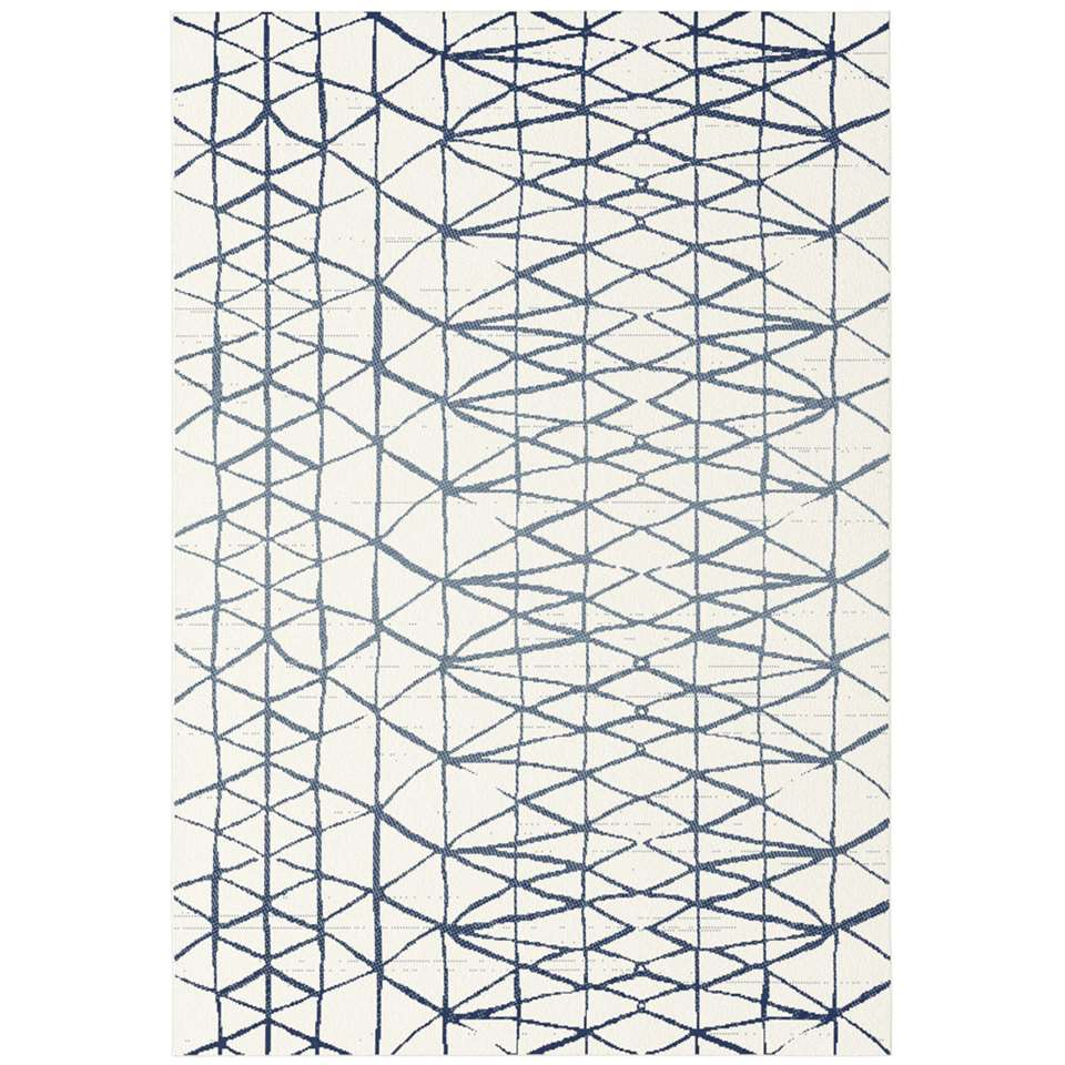 Vloerkleed Suyo - crème/blauw - 160x230 cm