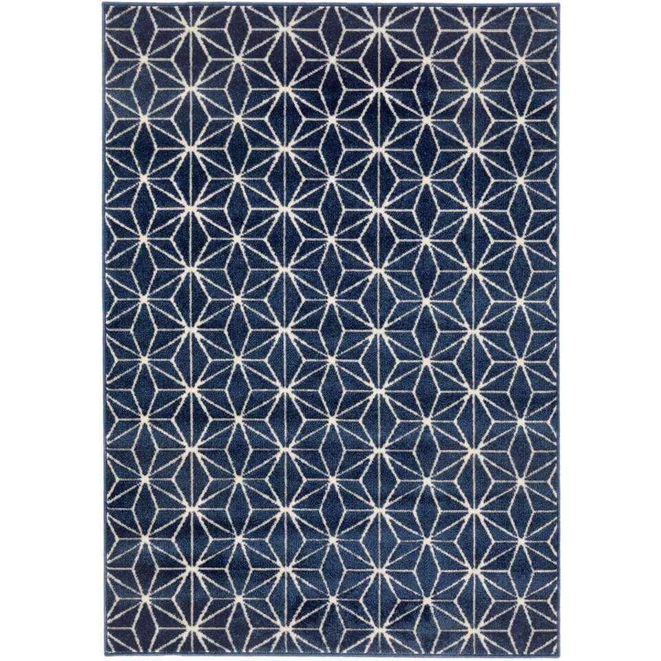 Vloerkleed Xade - blauw - 120x170 cm