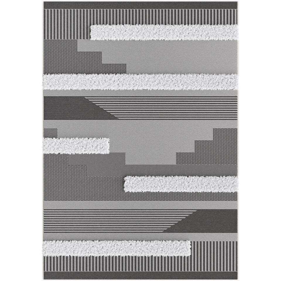 Vloerkleed Zastron - zwart - 120x170 cm