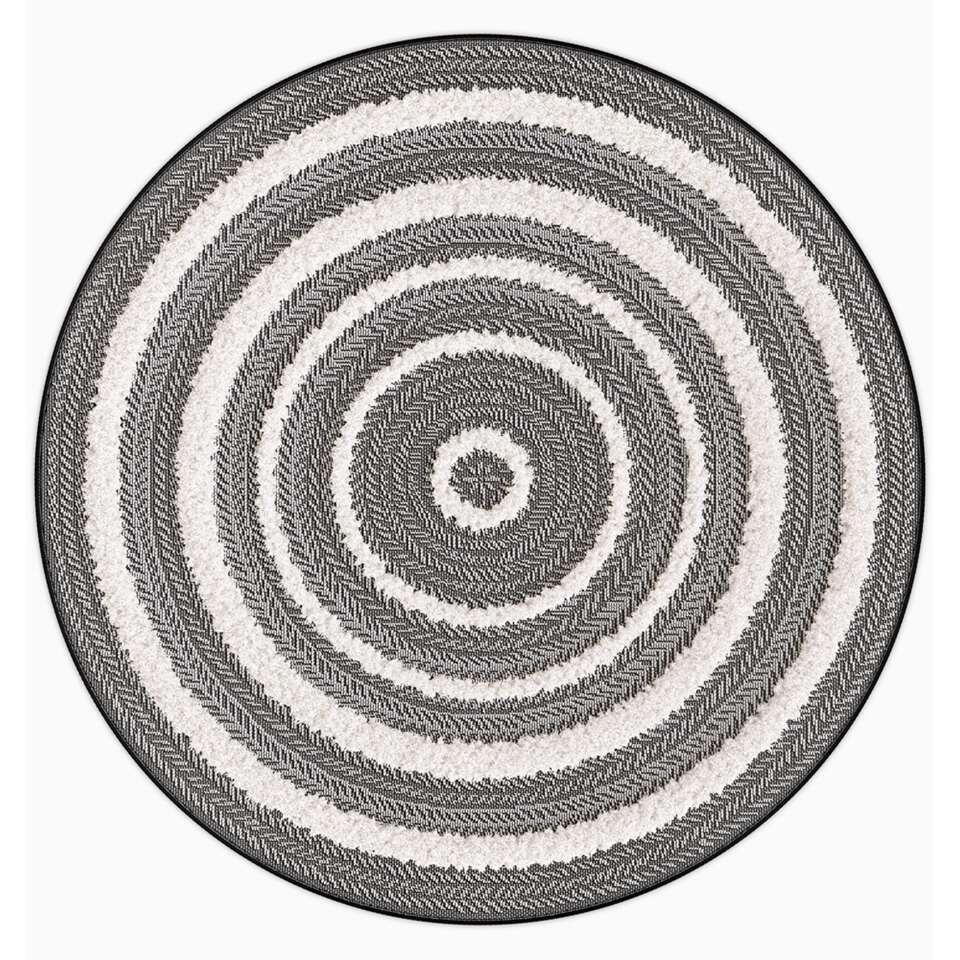 Vloerkleed Khisa - grijs - 160 cm