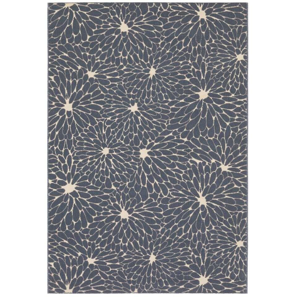 Vloerkleed Lentini – blauw – 160×230 cm – Leen Bakker