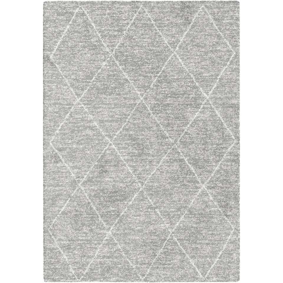 Vloerkleed Lizzano – grijs – 160×230 cm – Leen Bakker