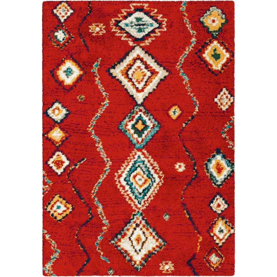 Vloerkleed Madimbo - rood - 160x230 cm