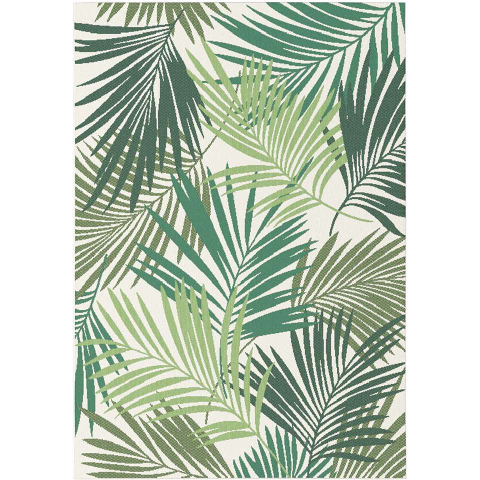 Vloerkleed Lerale - groen - 160x230 cm - Leen Bakker