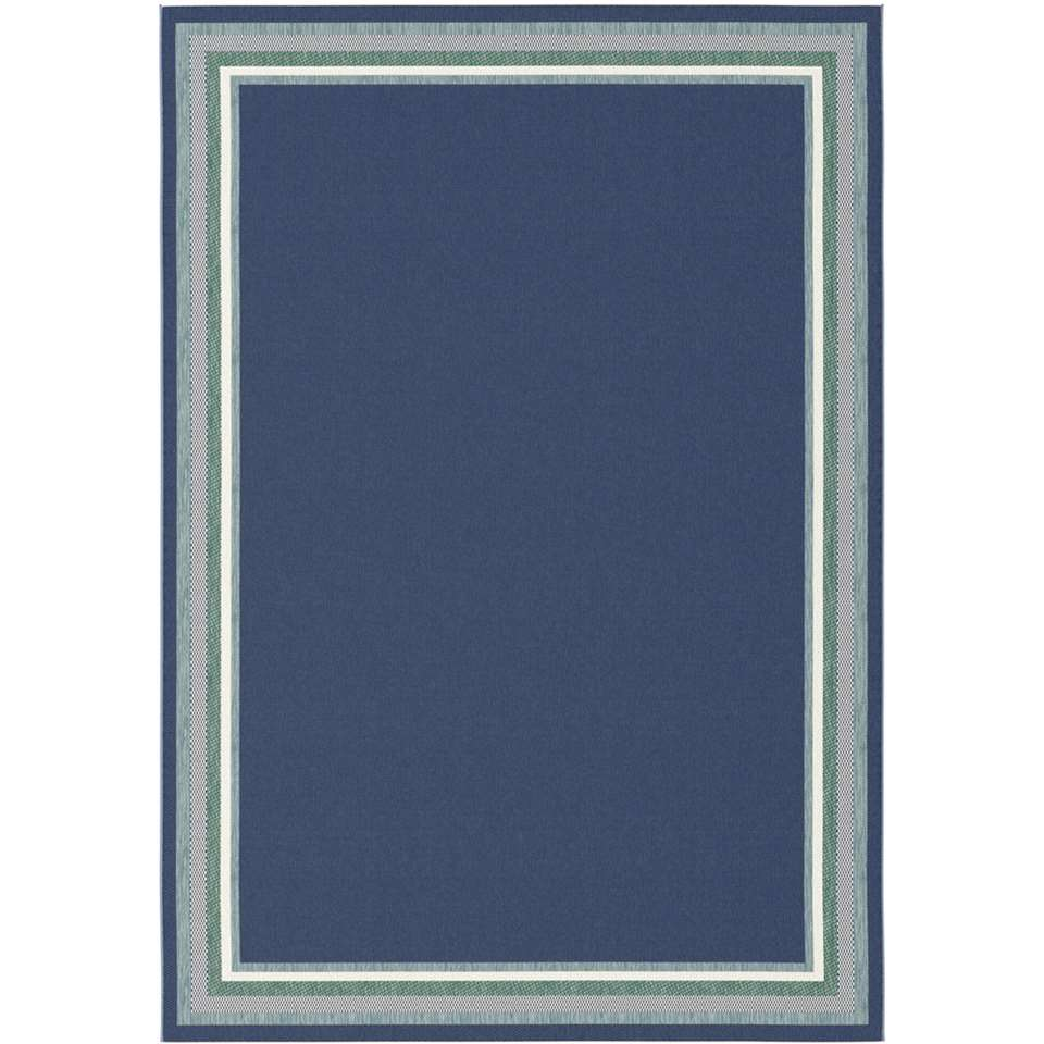 Vloerkleed Margate - blauw - 160x230 cm - Leen Bakker