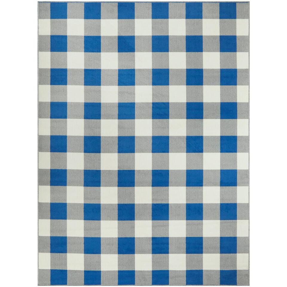 Vloerkleed Tindari - blauw - 160x213 cm