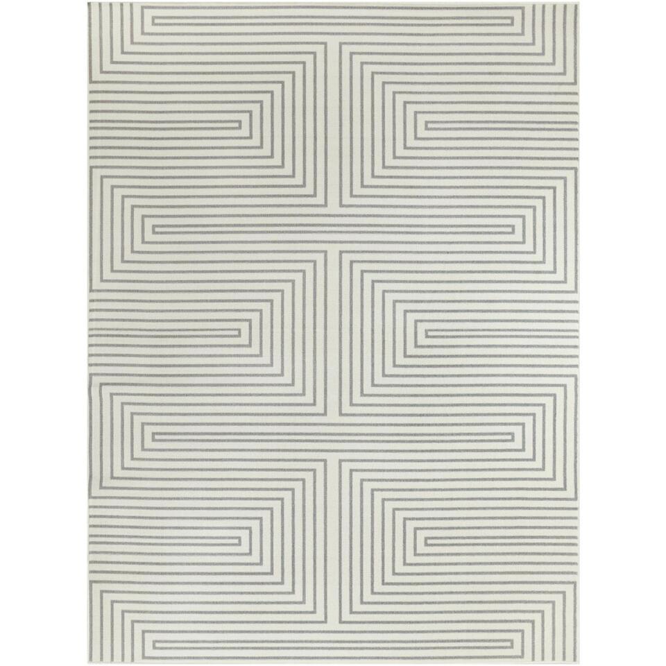 Vloerkleed Charlton - grijs - 160x213 cm - Leen Bakker