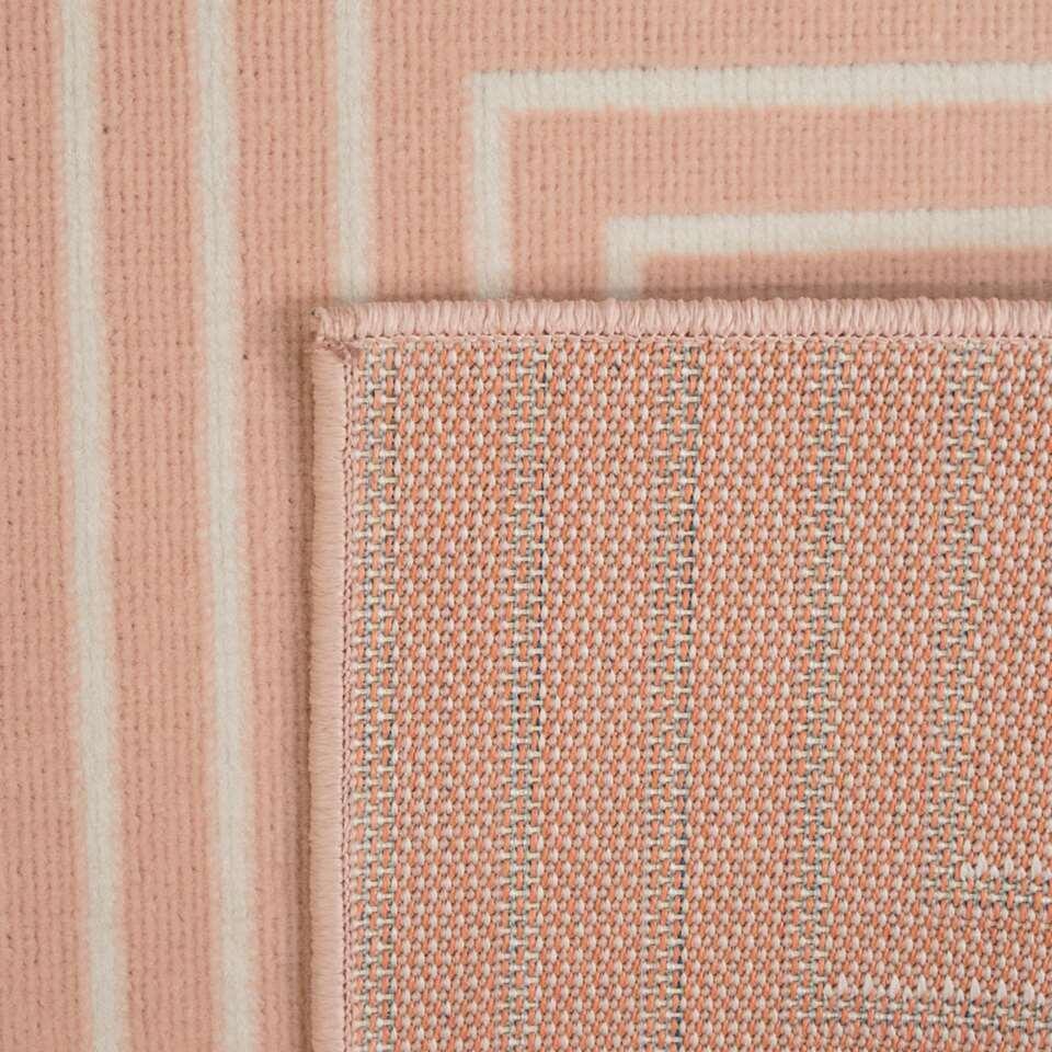 Vloerkleed Charlton - roze - 80x213 cm