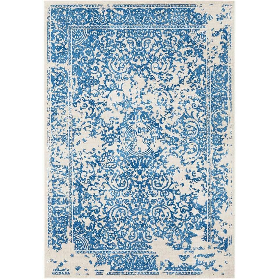 Vloerkleed Williston - blauw - 160x230 cm - Leen Bakker