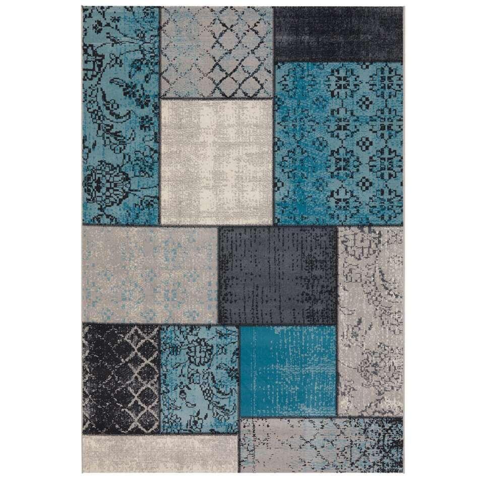 Vloerkleed Atalaya - blauw - 160x230 cm