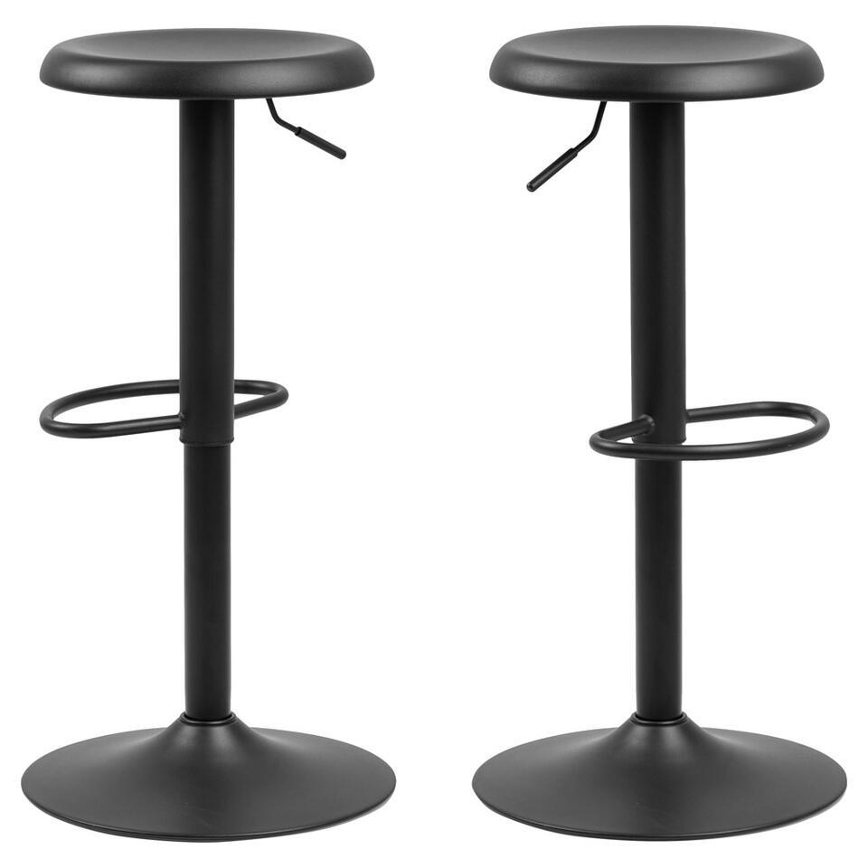 Barkruk Figo - zwart (2 stuks)