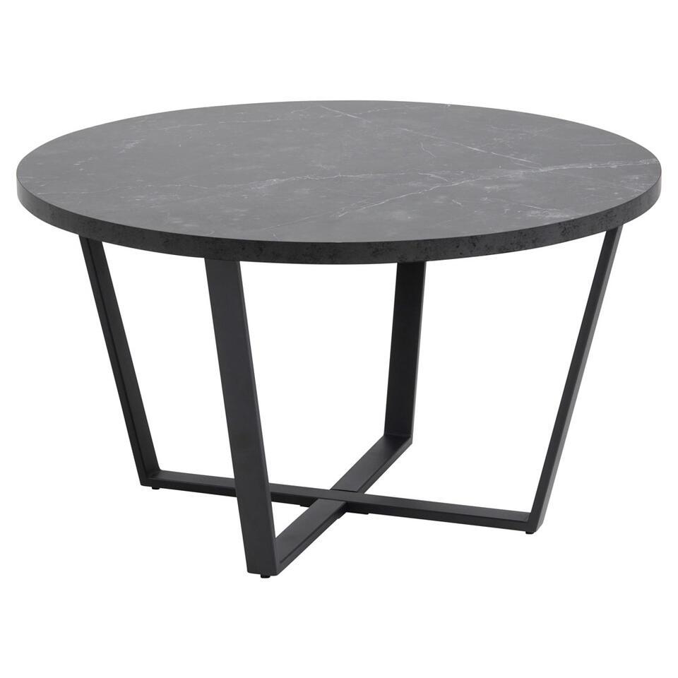 Salontafel Alma - zwart - 44x77x77 cm