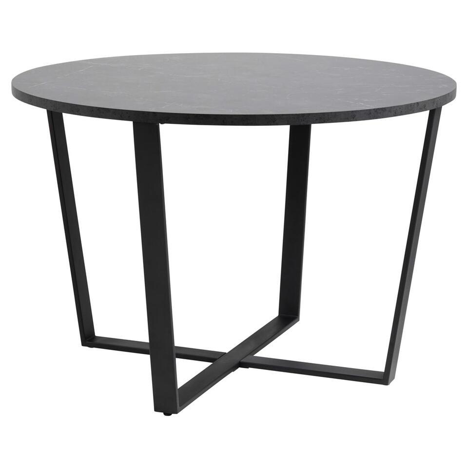 Eetkamertafel Alma – zwart – 75×110 cm – Leen Bakker