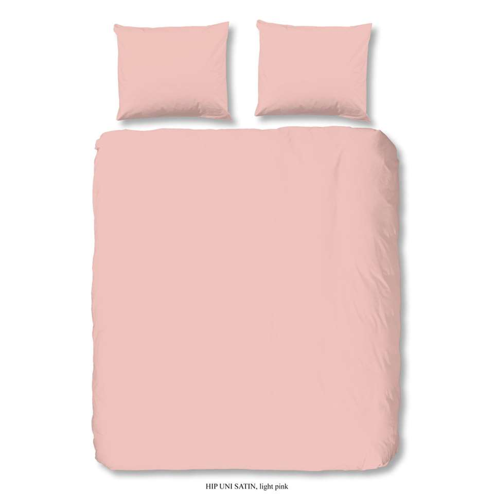 HIP dekbedovertrek uni light pink - licht roze - 200x200/220 cm