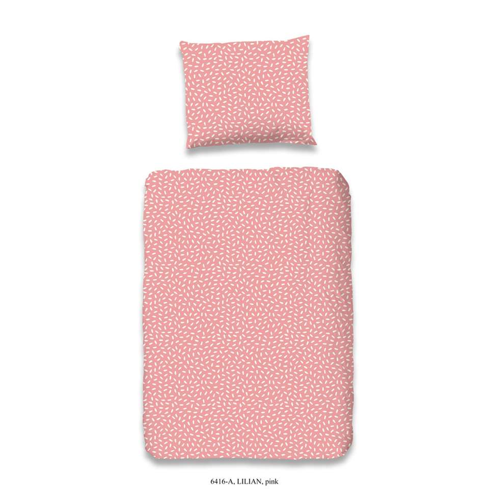 Good Morning dekbedovertrek Lilian - roze - 120x150/170 cm
