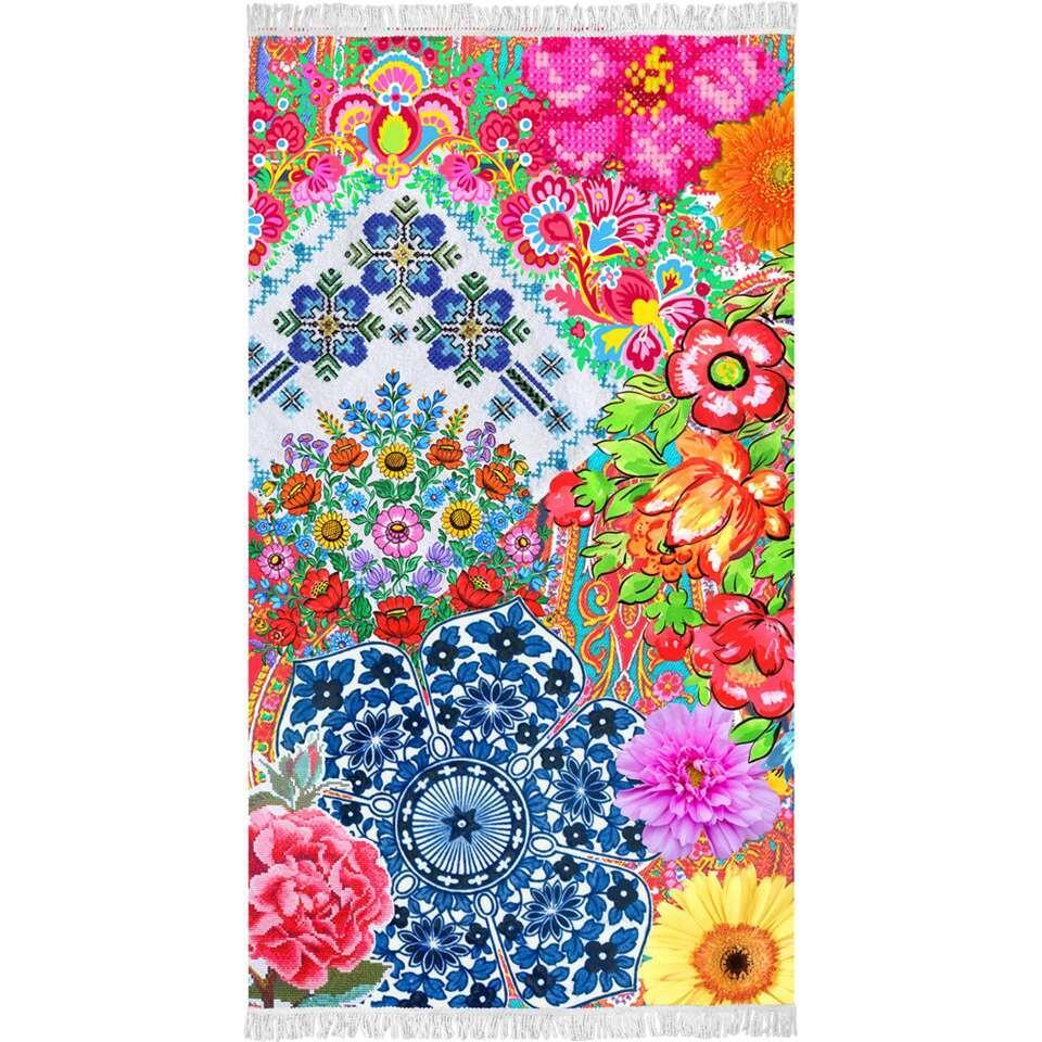 Happiness strandlaken Zaira - multikleur - 100x180 cm