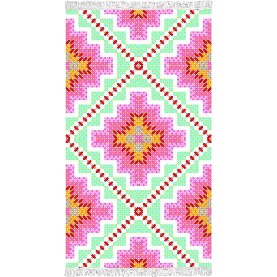 Happiness strandlaken Zopohia - multikleur - 100x180 cm