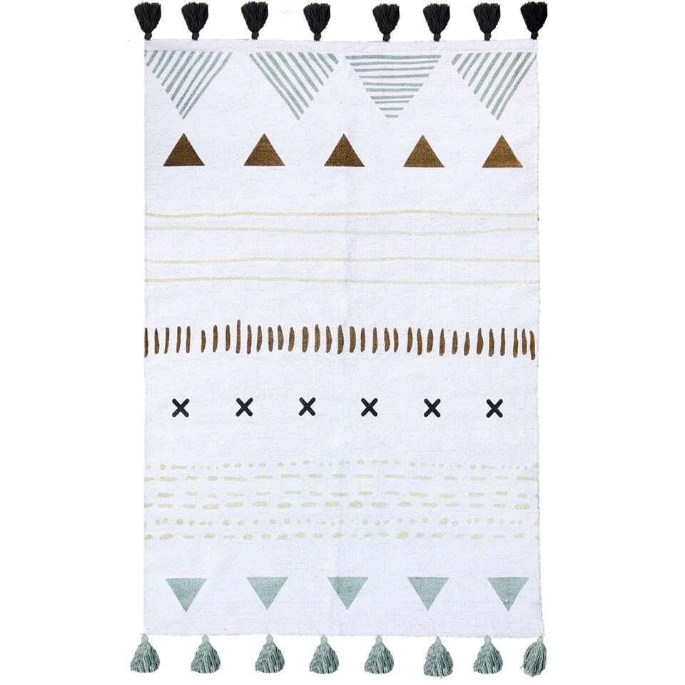 Art For Kids vloerkleed Tribal - multikleur/oker - 100x140 cm