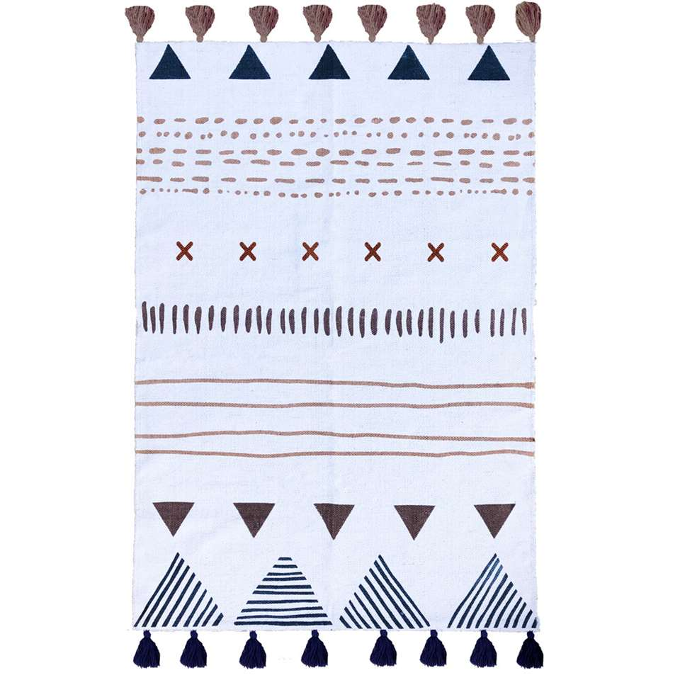 Art For Kids vloerkleed Tribal - multikleur/roze - 100x140 cm
