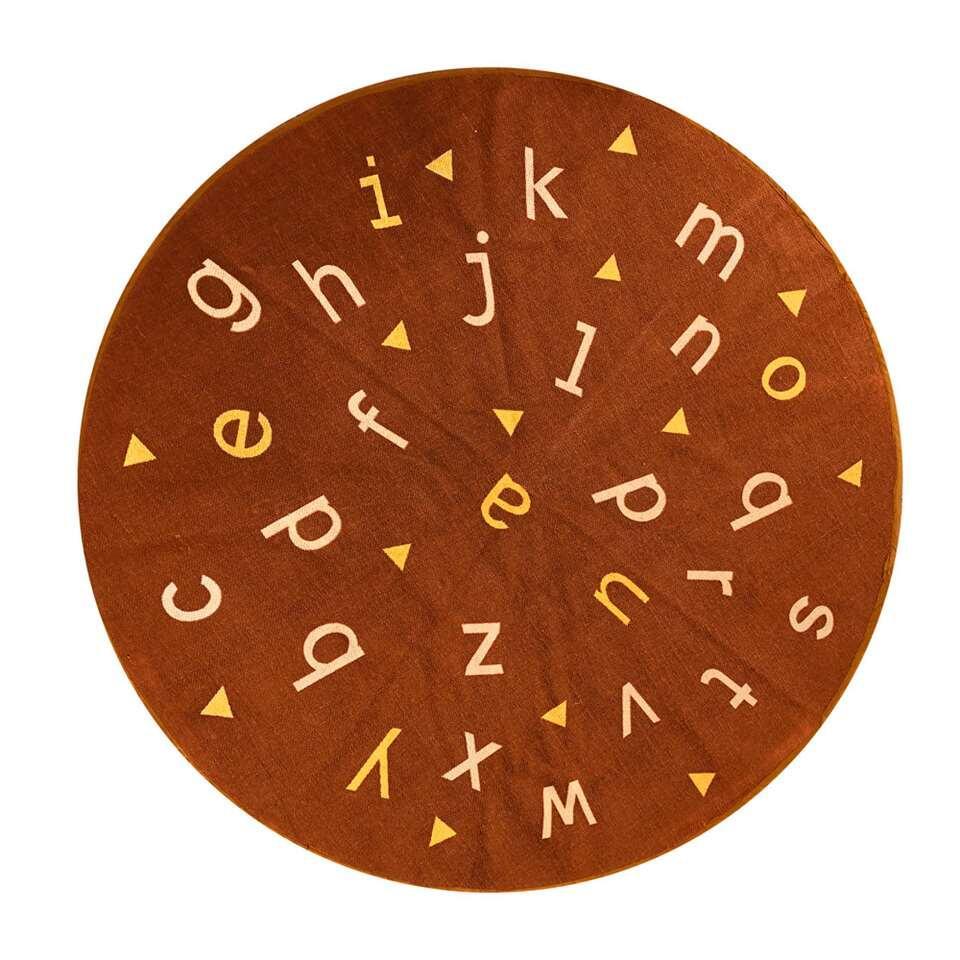 Art For Kids vloerkleed Alfabet - terracotta - 135 cm