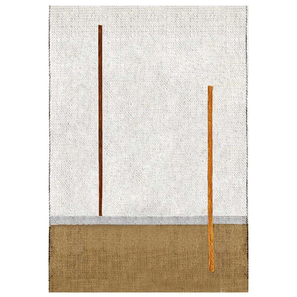Art For Kids vloerkleed Atlas - crème/oranje - 110x160 cm