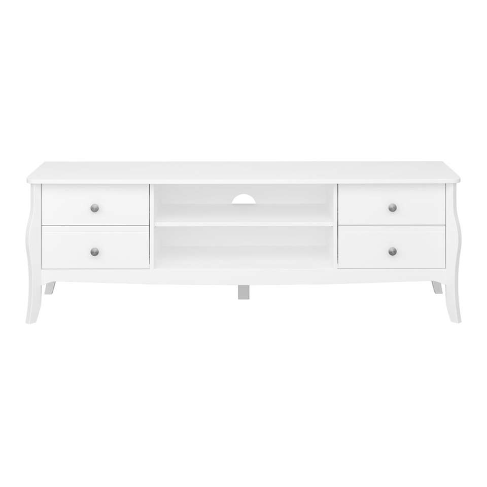TV-dressoir Baroque - wit - 52,6x160x40 cm