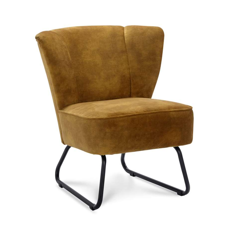 Fauteuil Roby - velvet - goud
