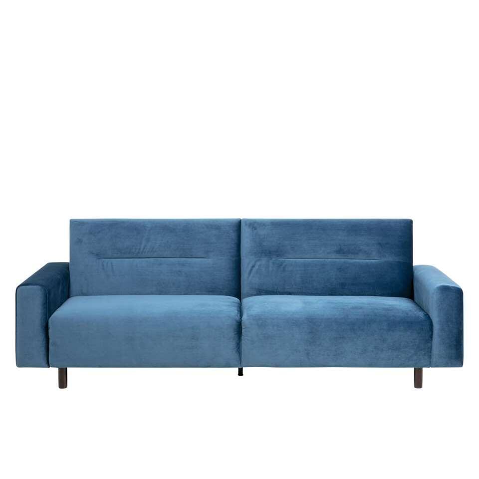 Slaapbank Marvik - velvet - blauw