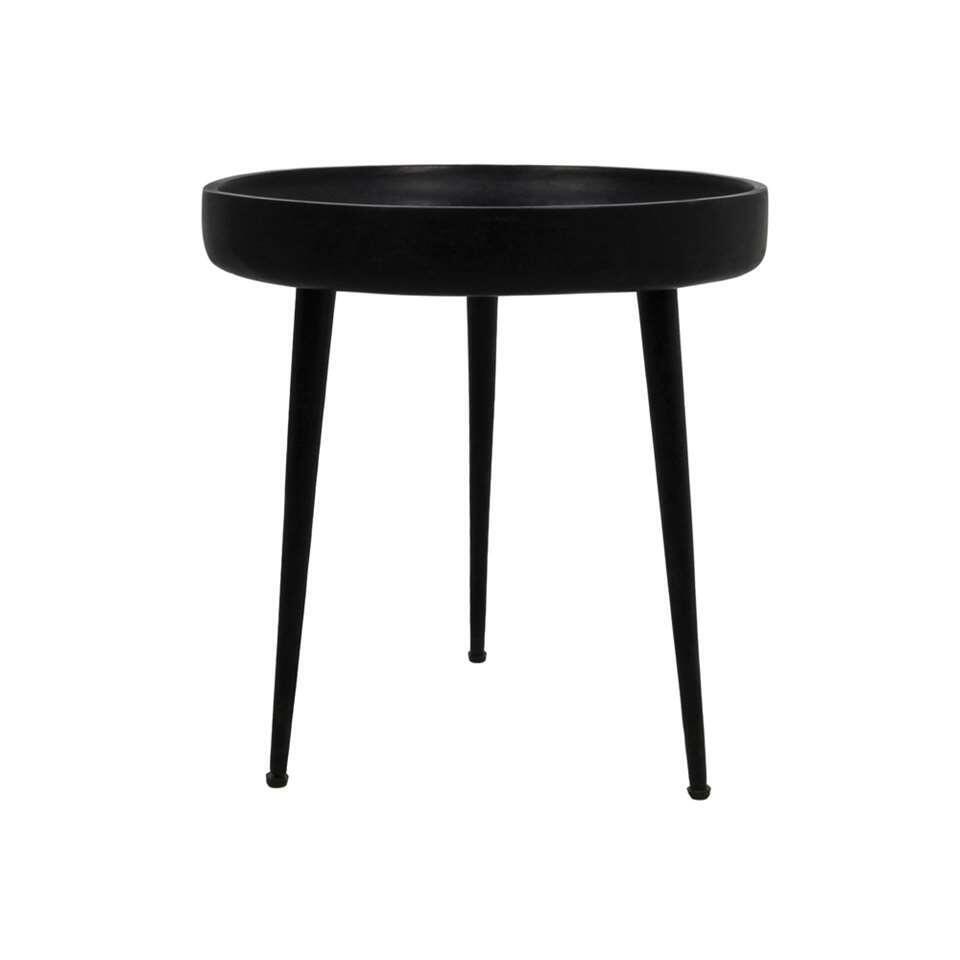 HSM Collection bijzettafel Ventura - zwart - 42x40 cm